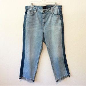 Sanctuary • high rise modern straight crop jeans